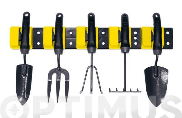 Colgador mural herramientas jardin 57 x 8 cm