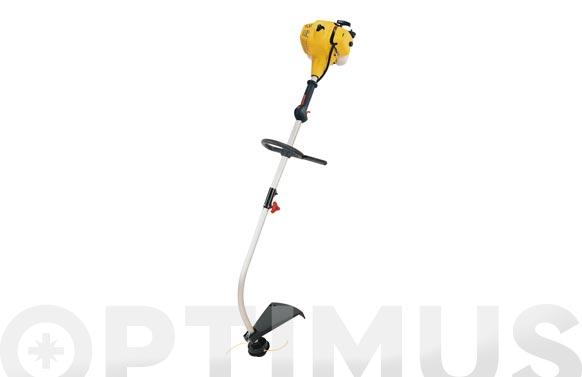 Desbrozadora gasolina 26 cc caña curva ø de corte: 43 cm., ø del hilo: 2 mm. motor 2t