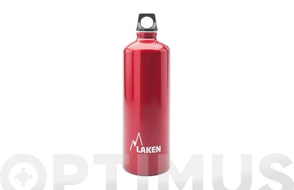 Botella aluminio futura roja 1 l