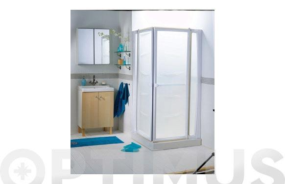 Mampara baño plato ducha 90 x 90 cm