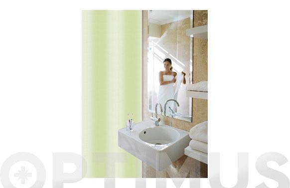 Cortina baño pol. lisa verde 180 x 200 cm