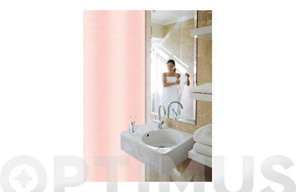 Cortina baño pol. lisa-rosa 180 x 200 cm