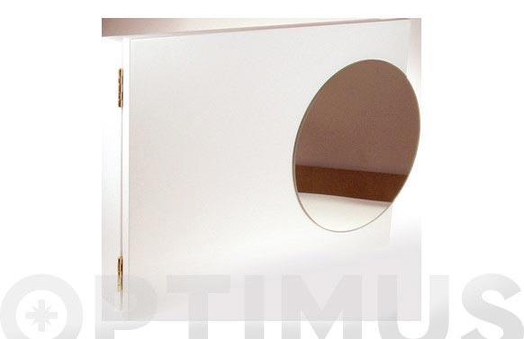 Tapa contador con espejo 46.5x30cm color wengue