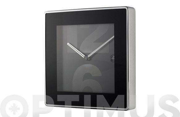 Reloj pared acero negro 31 x 31 cm