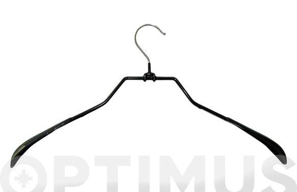 Percha metalica chaqueta antideslizante