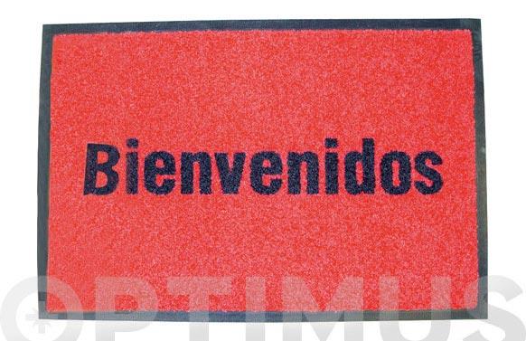 Alfombra bienvenidos 50x75 roja