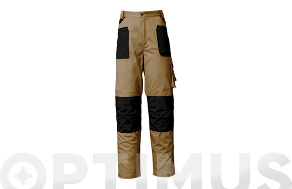Pantalon stretch t l beige