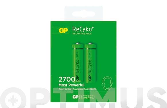 Pila recargable recyko (bl.2) aa 2700mah