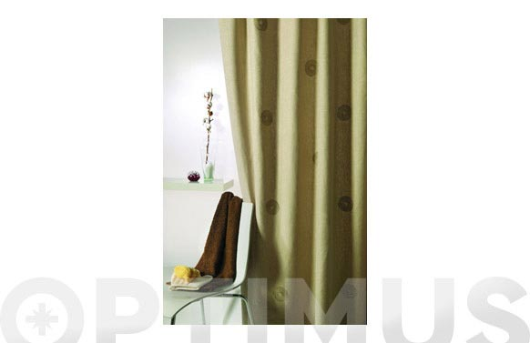 Cortina de bano lino 1.80x1.80 circulos