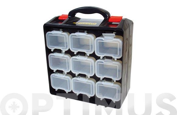 Maletin organizador plastico 34x28x14 18 compartimentos