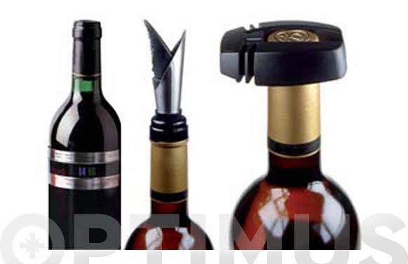 Accesorios de vino ambit ak003-3pzas