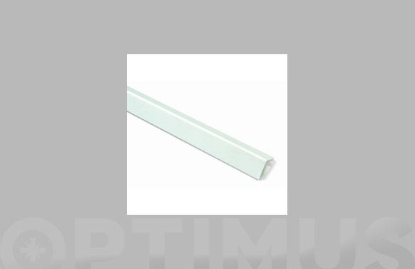 Angulo aluminio autoadhesivo lacado blanco 25 mm x 25 mm x 250 cm
