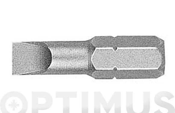 Punta plana (5 unidades) 6 x25