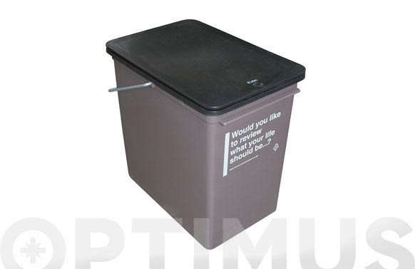 Cubo basura push 23x35x46.5 25l-color blanco. sin asa metalica.