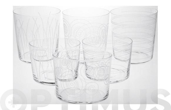 Vaso bodega decorado 6 uds 19 cl graphix