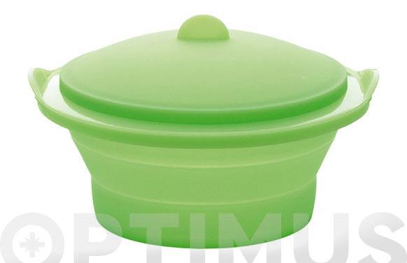 Vaporera plegable ø 24 cm verde