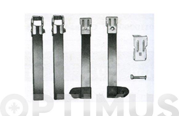 Pata somier con ruedas (jg.4 p) 250x30x30 mm