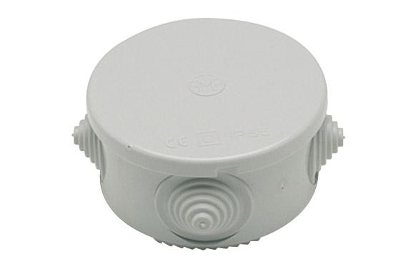 Caja estanca redonda ip55 74x50 mm con conos