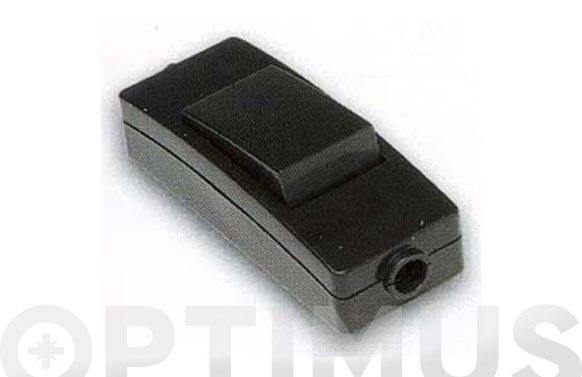 Interruptor de paso 10a-250v negro