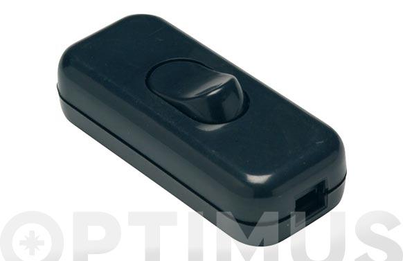 Interruptor de paso 2a-250v negro