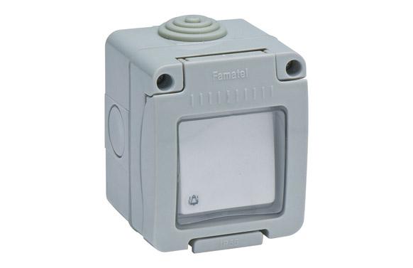 Pulsador timbre superficie 10a ip55