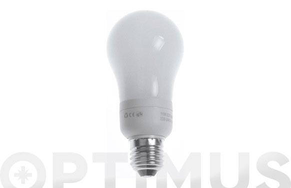 Bombilla bajo consumo esferica 11w e-27 luz blanca