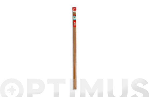 Burlete bajo puerta adhesivo pvc/goma 100 cm madera clara