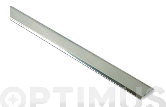 Cubrejuntas moqueta estrecho inox adhesivo 100 cm
