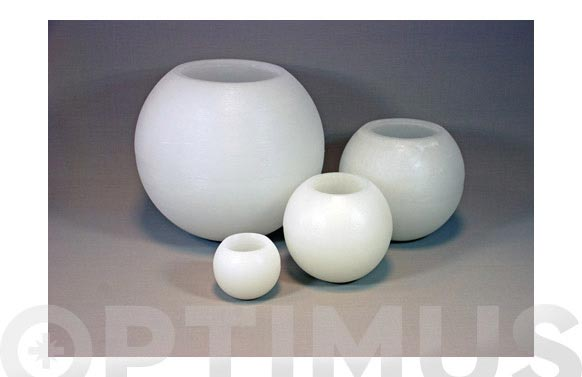 Vela esferica blanca 30cm bigbola