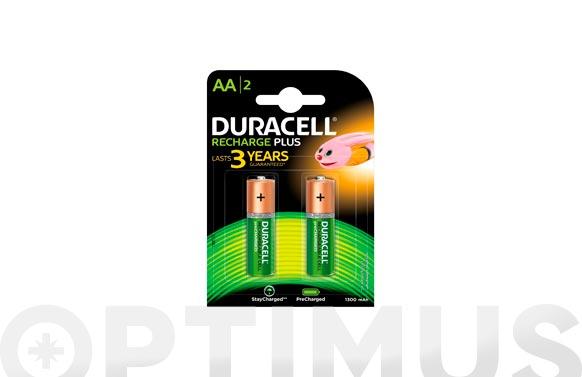 Pila recargable plus duracell aa lr06 bl.2