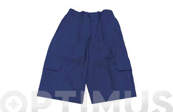 Pantalon corto algodon etna t xl azul