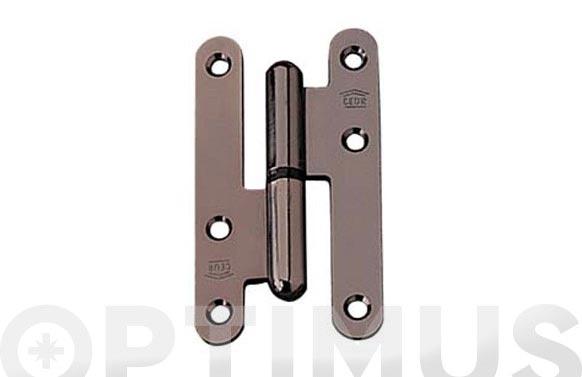 Pernio acero latonado 95 x 54 izq-pr