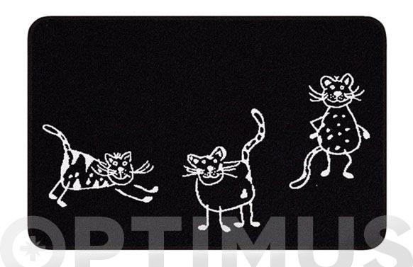 Alfombra baño cats 60 x 90 cm