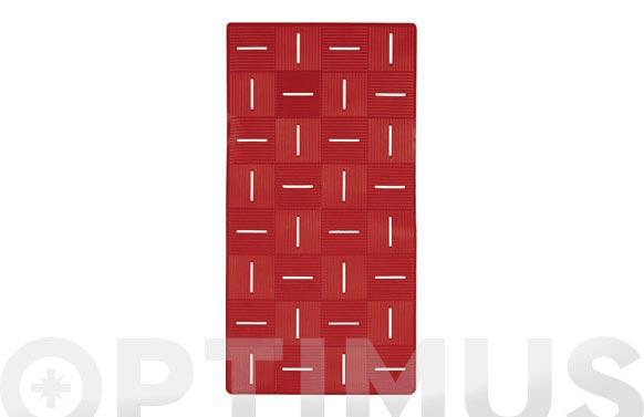 Alfombra baño antideslizante chess rojo- 36 x 72 cm