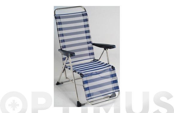 Sillon relax fibreline aluminio color 56
