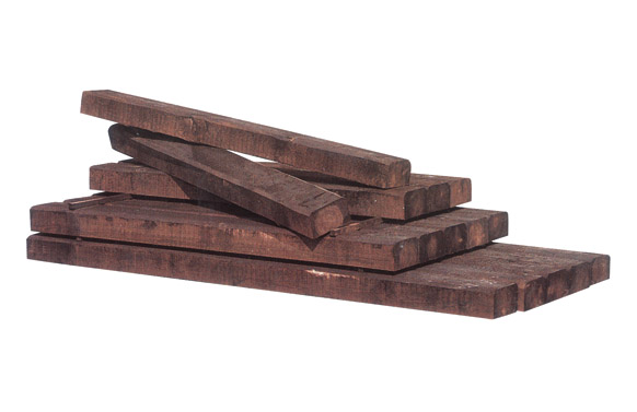 Traviesa madera pino tratado marron oscuro 180x20x10 cm