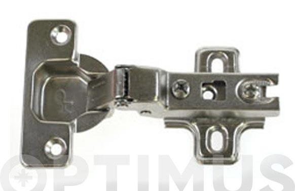 Bisagra d.35 mm + base sin clip acodada-110