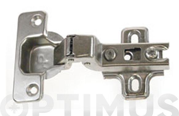 Bisagra d.35 mm + base sin clip super acodada-110