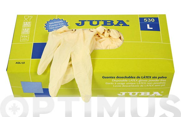 Guante latex desechable sin polvo t.xl 100 uds
