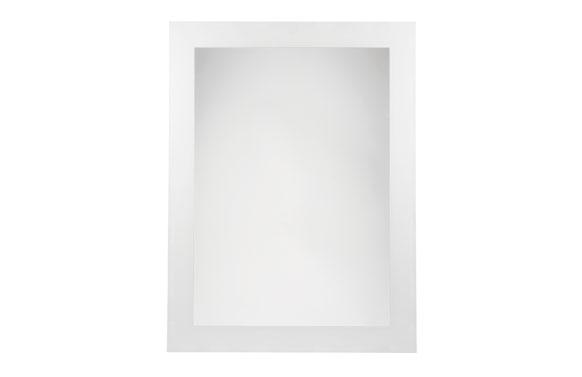 Espejo baño blanco serigrfiado lux-20 b-900 75 x 55 cm