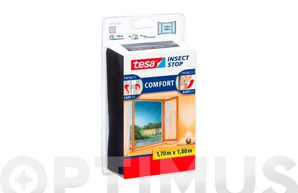 Mosquitera ventana 1,7 x 1,8 mt color antracita
