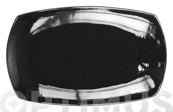 Bandeja porcelana color rectangular 33 cm lotto-negra