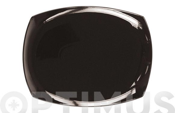 Bandeja porcelana color rectangular 36 cm lotto-negra