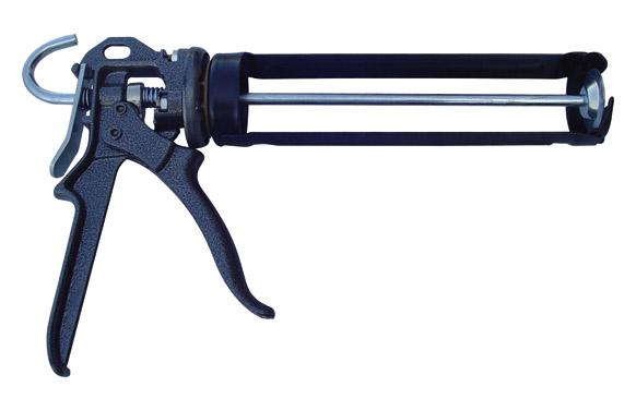 Pistola cartucho silicona giratoria 14:1 310 ml reforzada