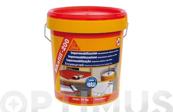 Impermeabilizante sikafill 200 fibras rojo 5 kg