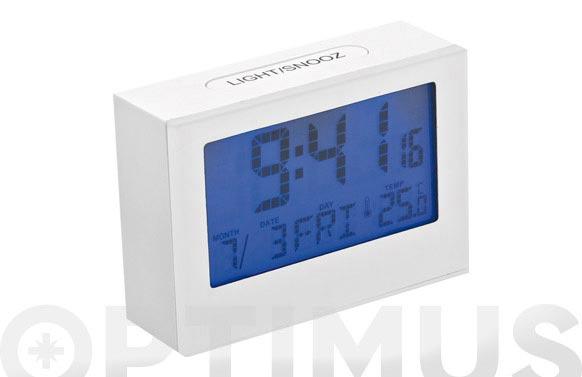 Despertador digital lcd balvi blanco