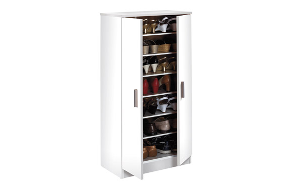 Zapatero armario basic blanco 108 x 55 x 36 cm