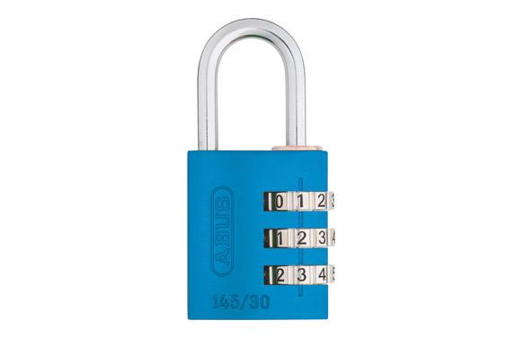 Candado aluminio combinacion 145 blister 20 mm azul
