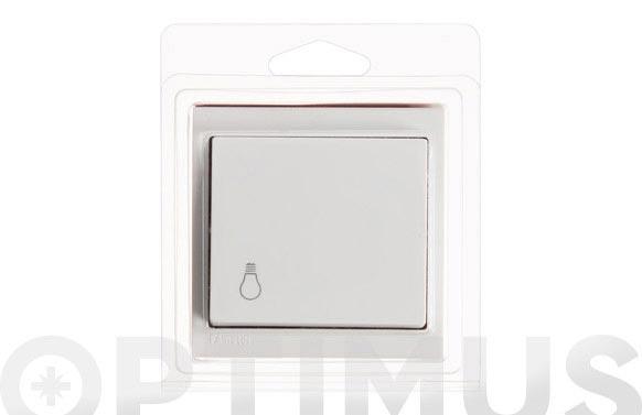 Pulsador luz superficie 10a blanco