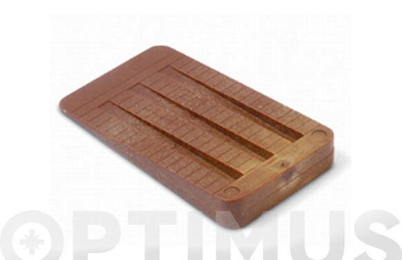Cuña plastico color madera 2 uds 50 x 30 x 7 mm